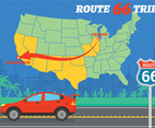 Route 66 vector illustration