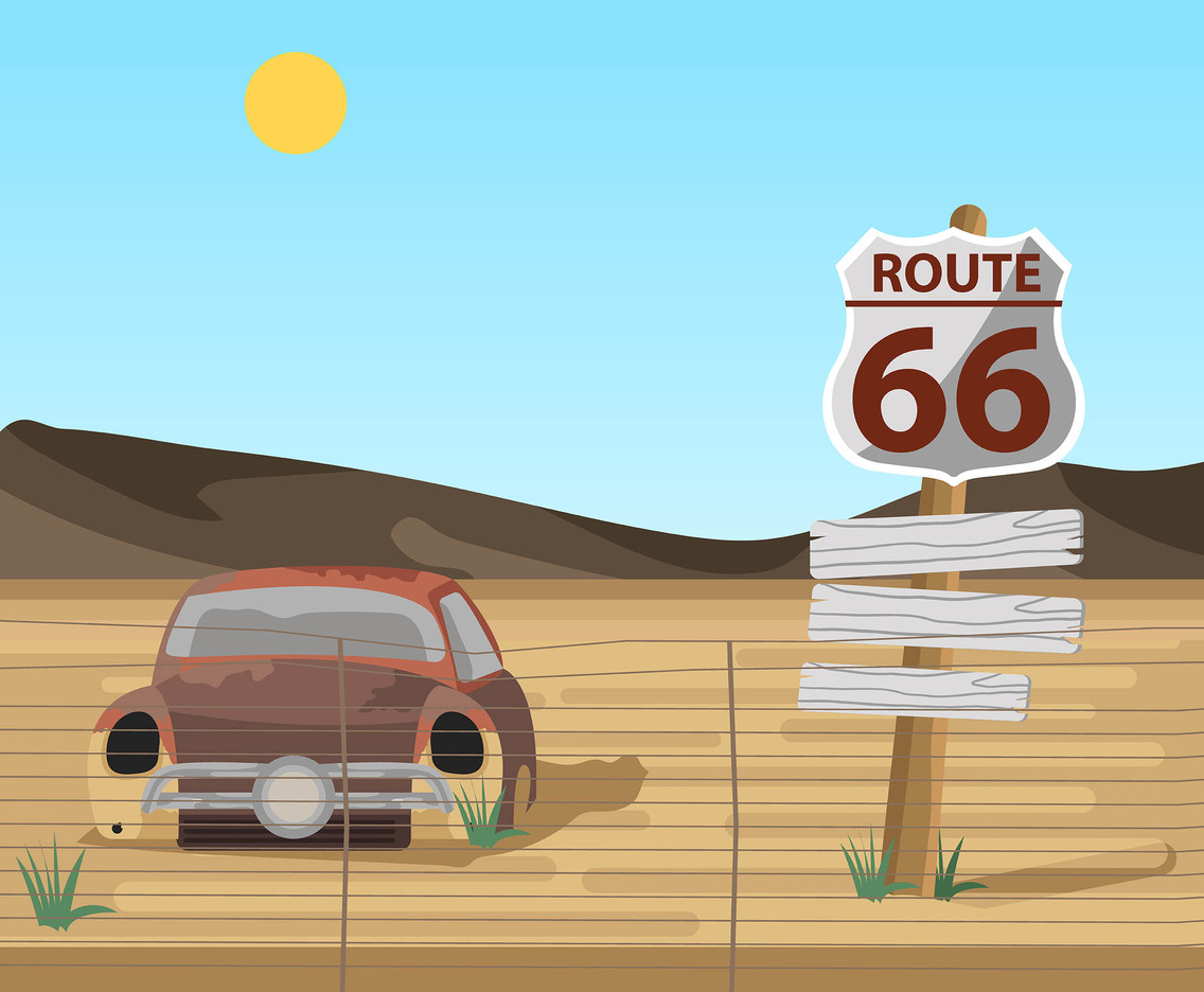 Route 66 with Car