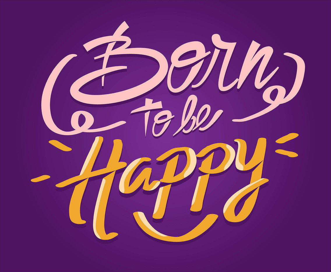 Hand Lettering in Purple Background
