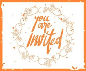Invitation in Hand Lettering
