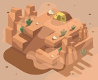 Isometric Desert with Tent
