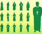 Priests Silhouettes