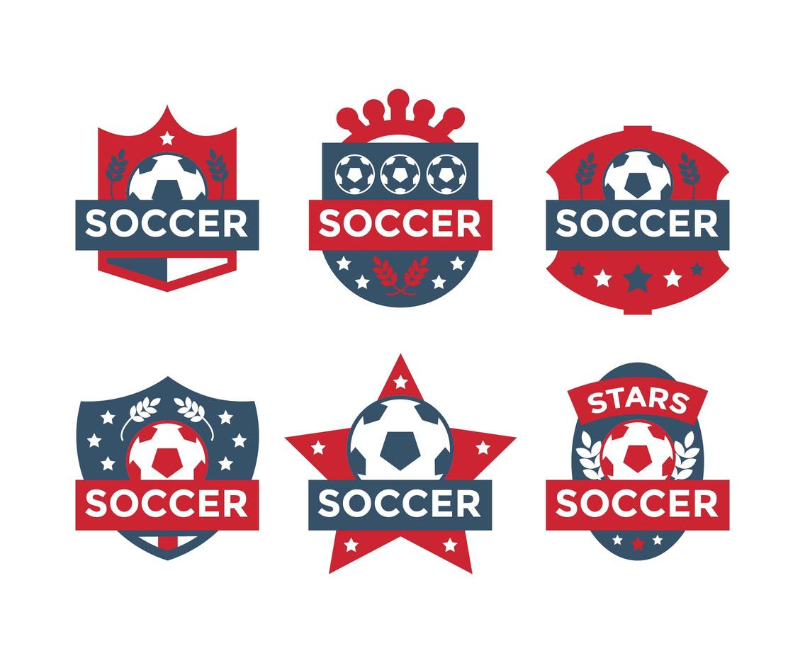 Futbol Pack Soccer Badges Logos Templates Vector