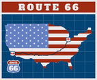 Unique Route 66 Vectors