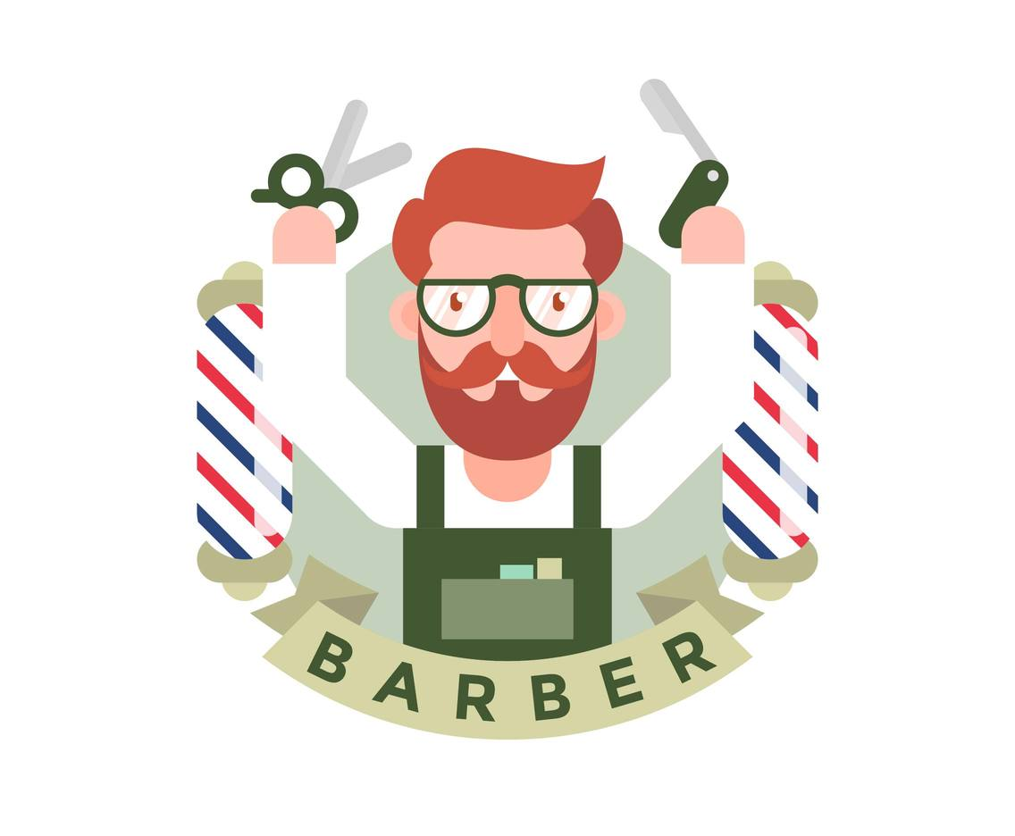 Barber Flat Illustration Vector