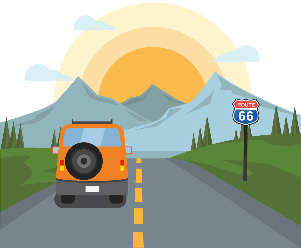 Road to the Mountain Vector