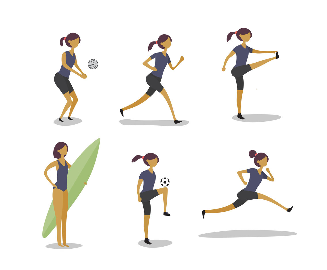 Girls and Sport Vector