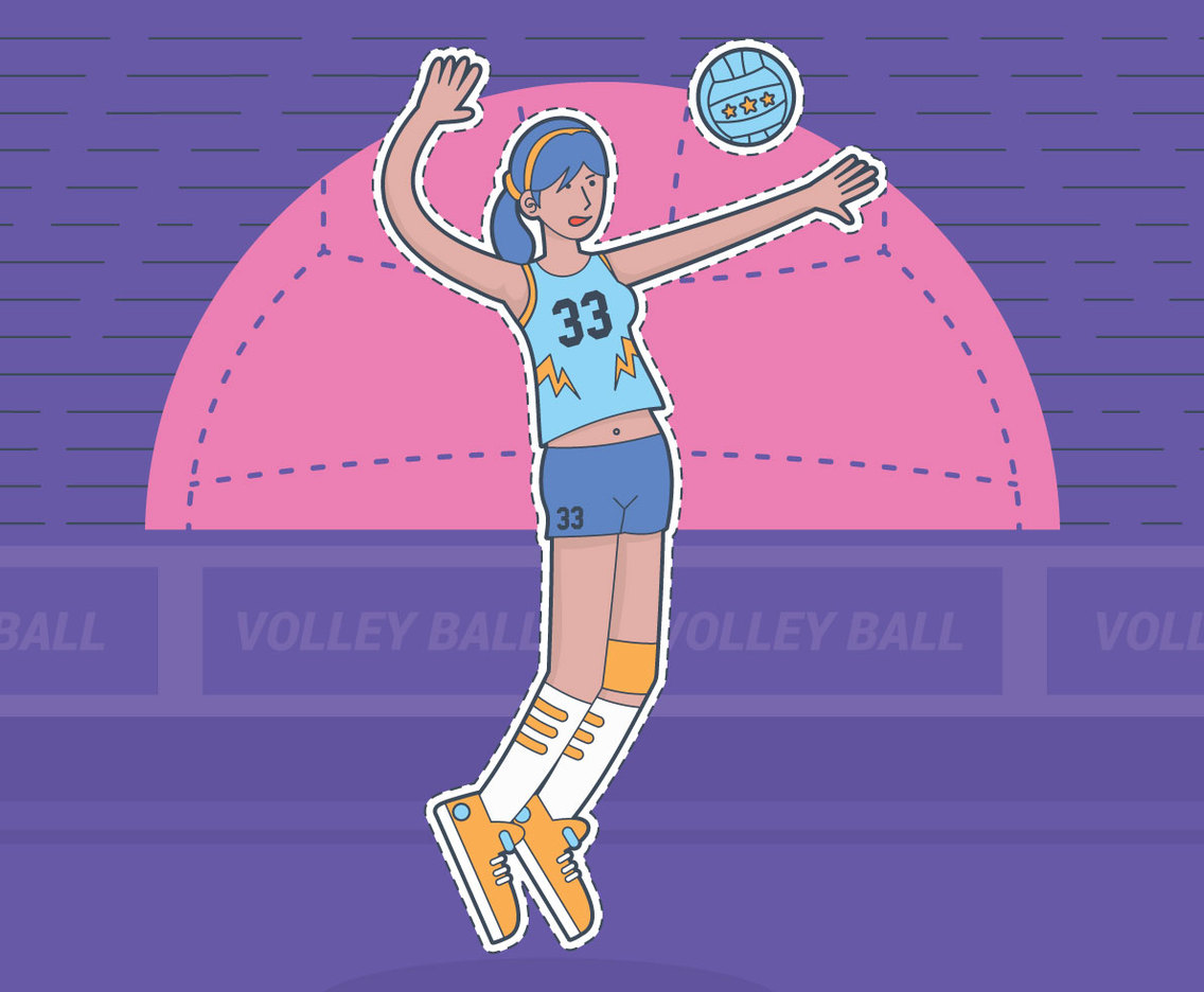 Female Athlete Volleyball