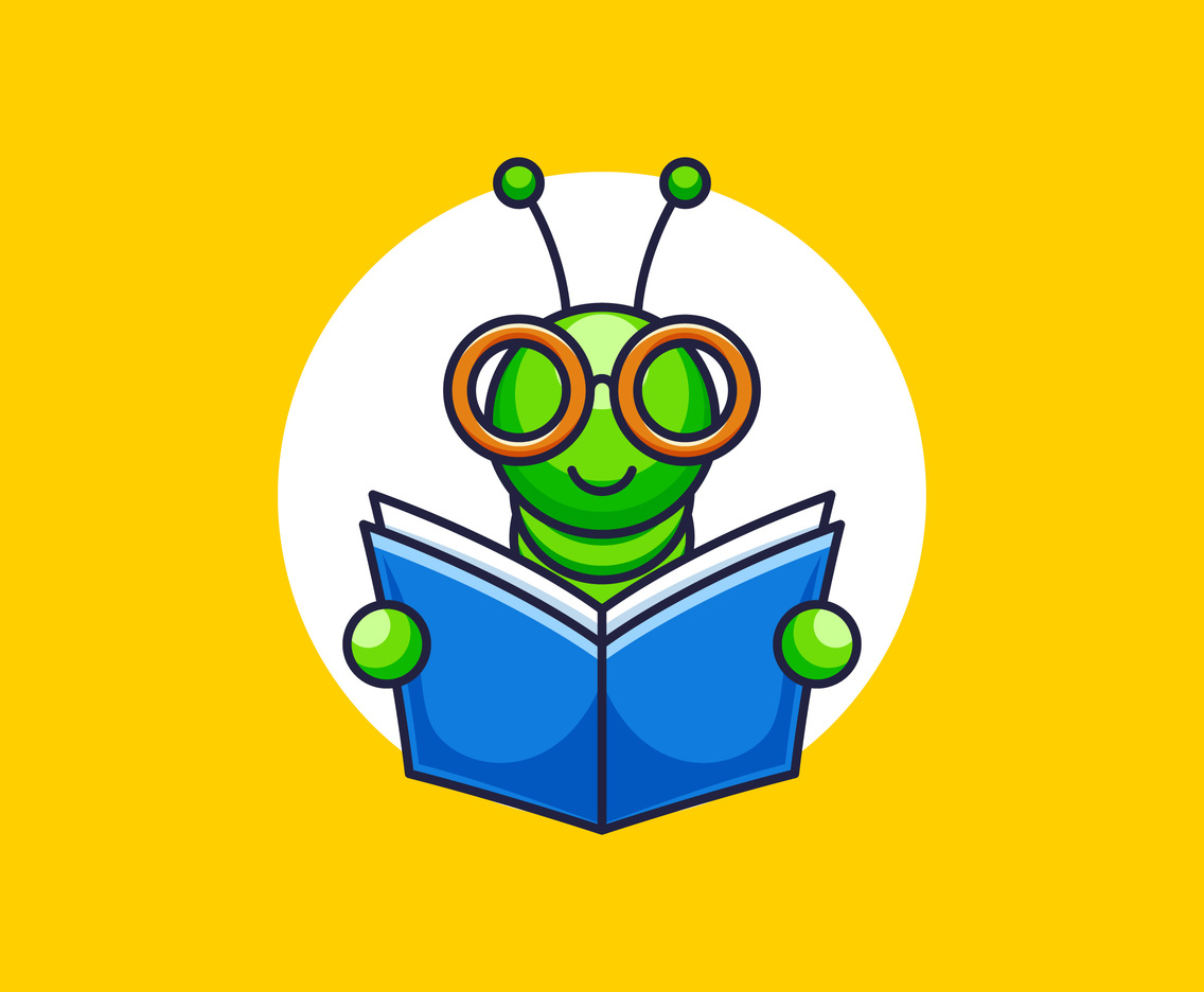 Outstanding Book Worm Vectors