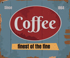 Coffe Vintage Sign
