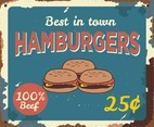 Hamburgers Vintage Sign