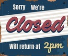 Closed Vintage Sign