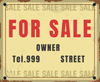 For Sale Vintage Sign