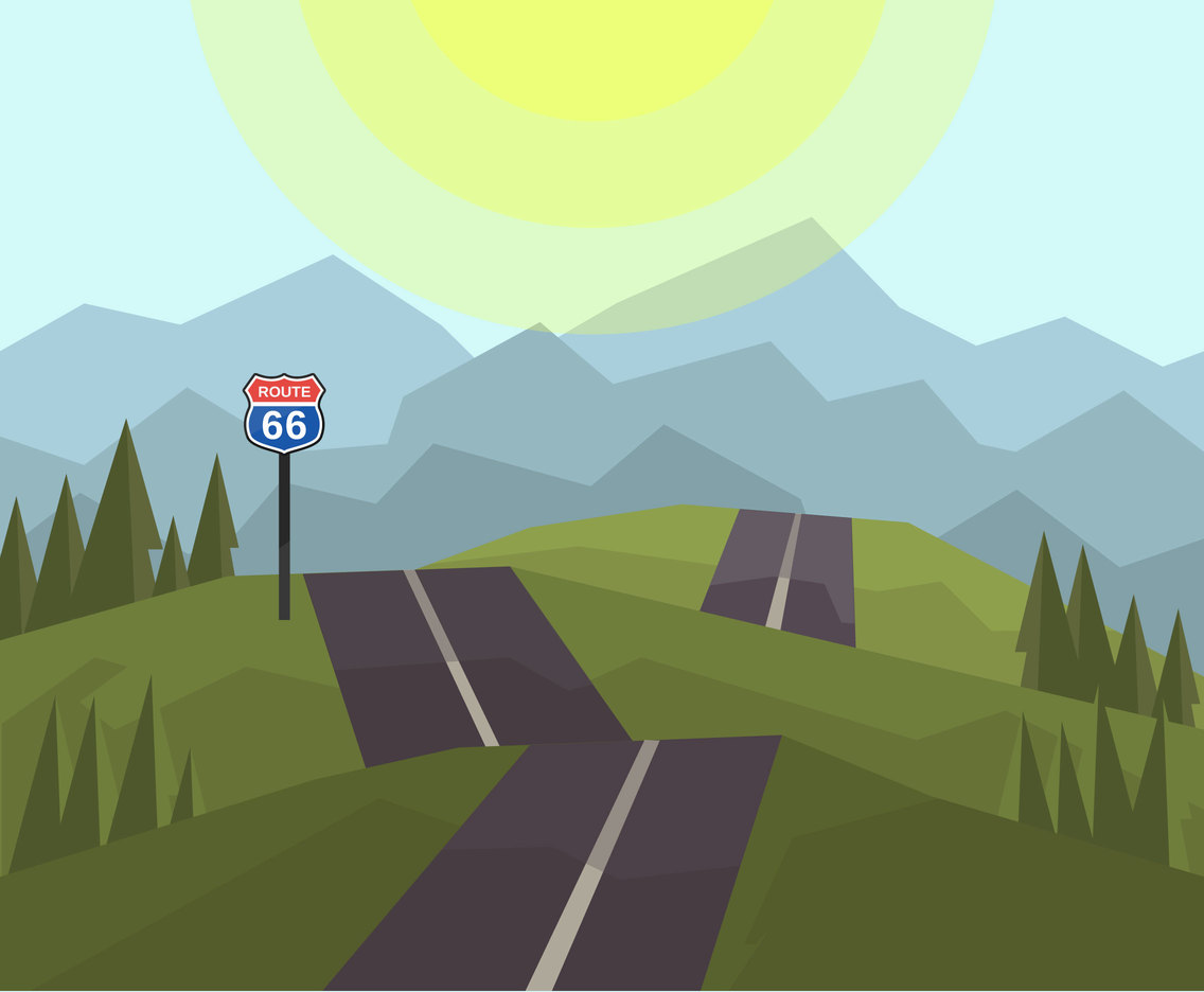Hilly Road Vector