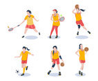 Various Sportgirls Vector