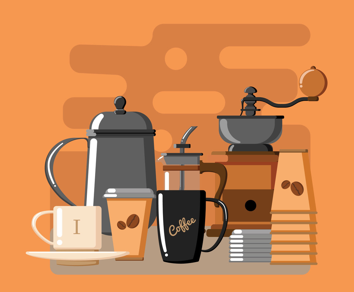 Serving Coffee Vector