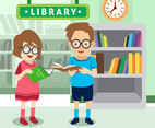 Children Library Vector