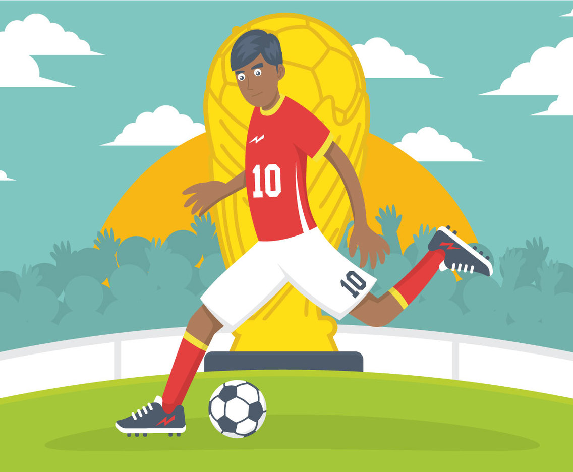 Futbol player vector