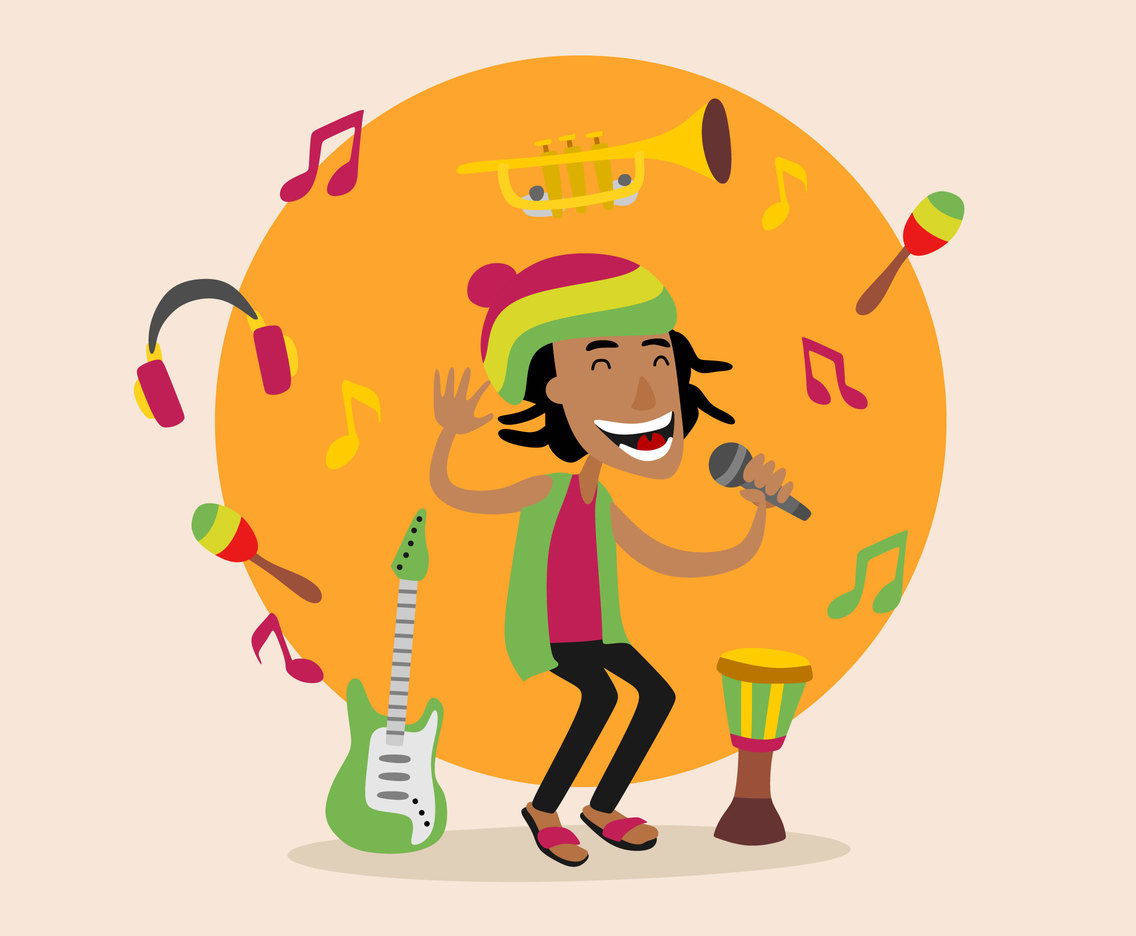 Reggae Music Vector
