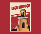 Vintage Lighthouse Party Poster