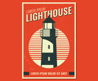 Retro Lighthouse Poster
