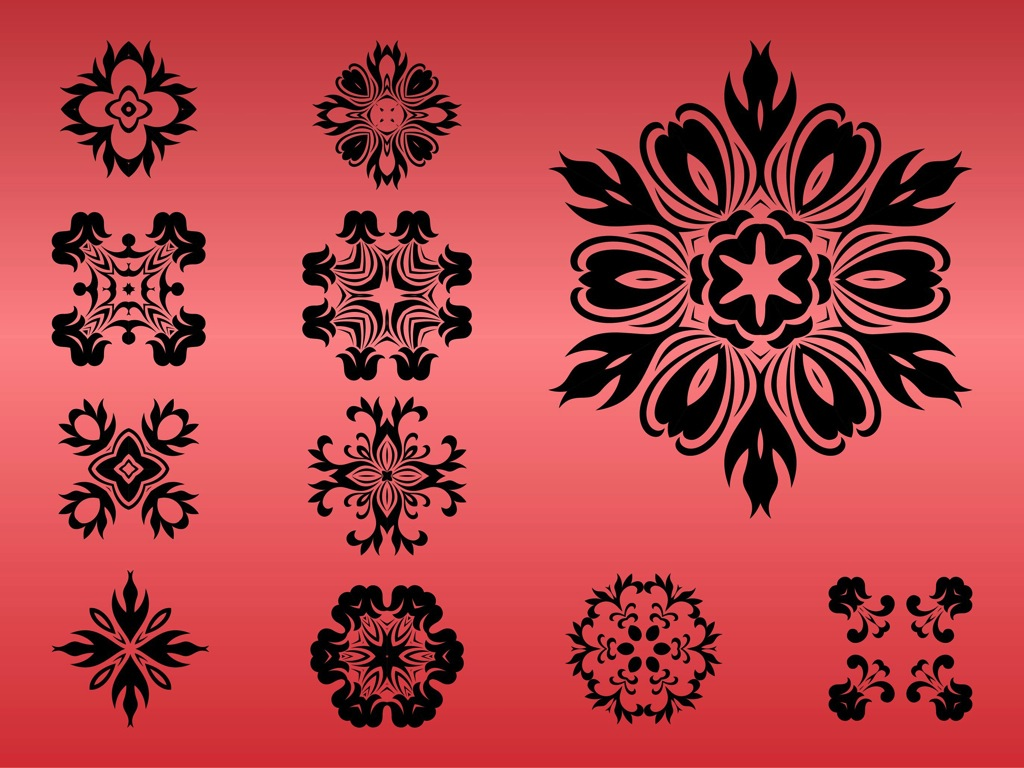 Round Floral Designs Vector Art & Graphics | freevector.com