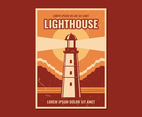 Lighthouse Vintage Poster