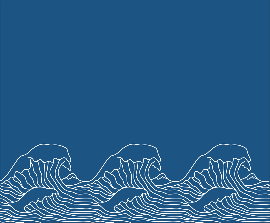 Japanese Wave Illustration Motif