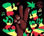 Reggae Illustration Background Vector