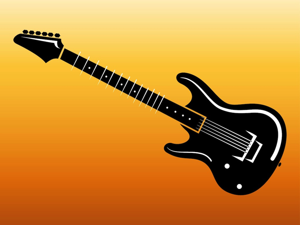 Electric Guitar Footage Vector Art & Graphics | freevector.com