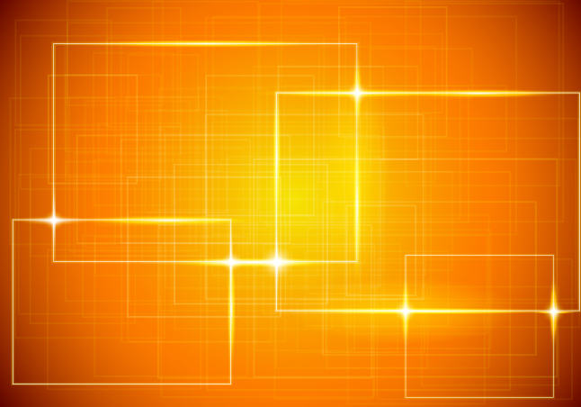 Glowing Squares Vector Background