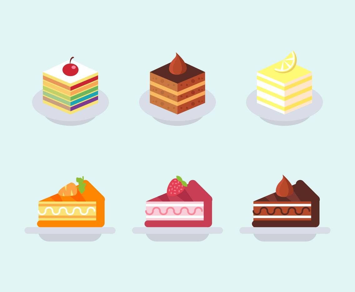 Layer Cake Pack Flat Illustration Vector