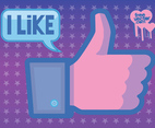 Facebook Like Vector