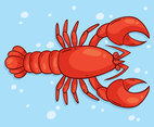 Hand Drawn Lobster Vector