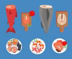 Various Seafood Vector