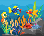 Under Sea Animals Vector