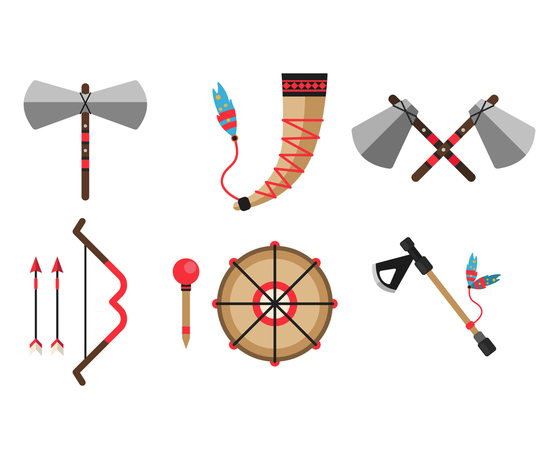 Traditional Indian Weapons Vector