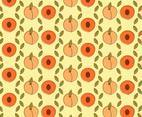 Peach Pattern Cartoon Style Vector