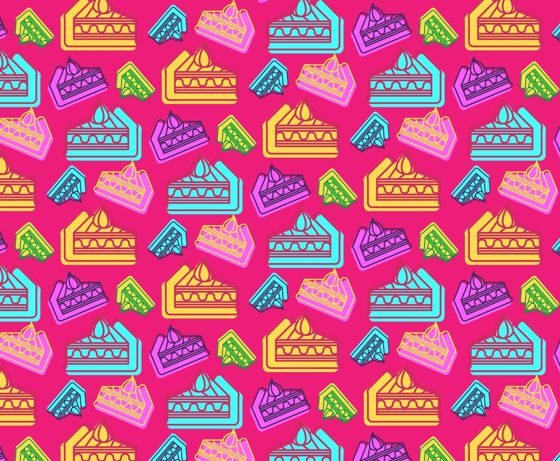 Layer Cake Pattern Vector