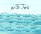 Hand Drawn Water Waves Vector Background