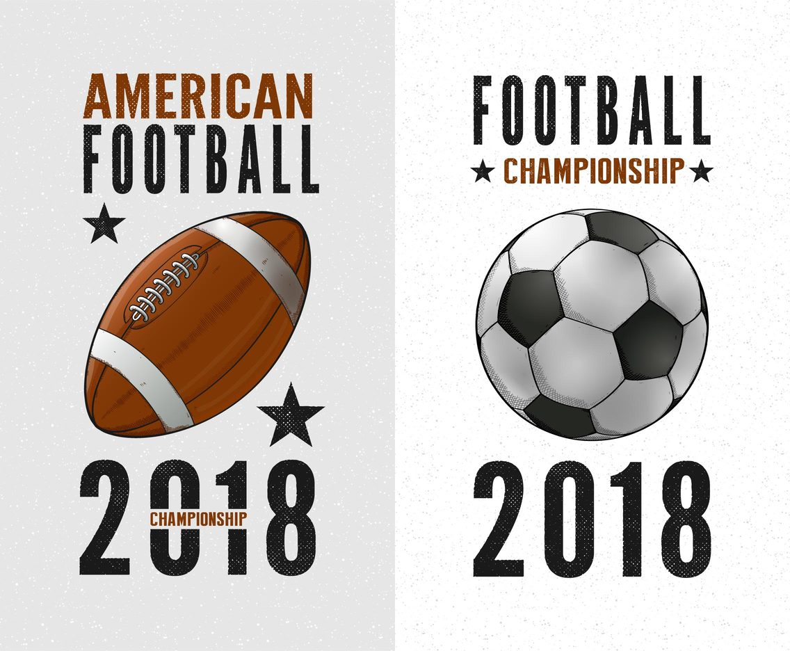 Football Championship Retro Vector Posters