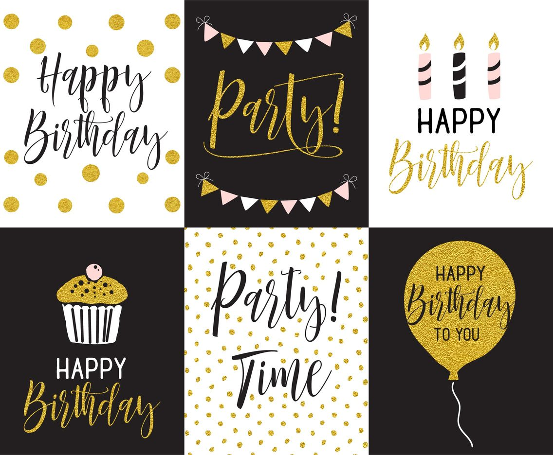 Happy Birthday Greeting Card And Party Invitation Templates