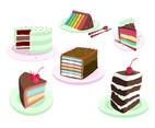Yummy Layer Cakes Vector