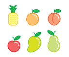 Fruity Icons Vector