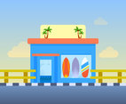 Funky Surf Shop Vector