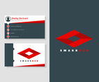 Unique Flat Business Cards Vectors