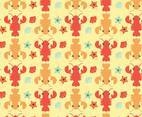 Lobster Pattern Vector