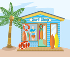 Surfing Sport Shop Vector