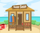 Surfing Equipment Shop Vector