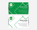 Abstract Flat Business Card